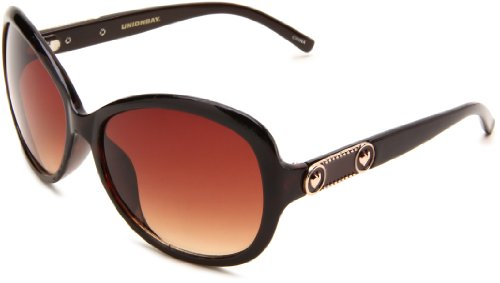 union-bay-womens-u174-oval-sunglassesbrown-framebrown-gradient-lensone-size