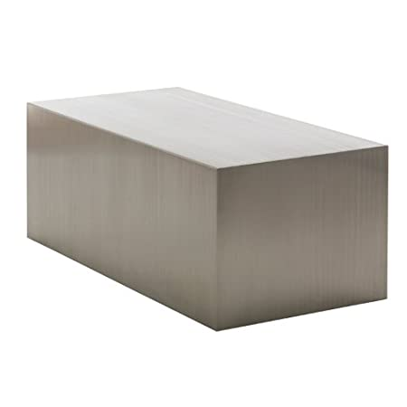 Nuevo Tucson Brushed Stainless Steel Coffee Table