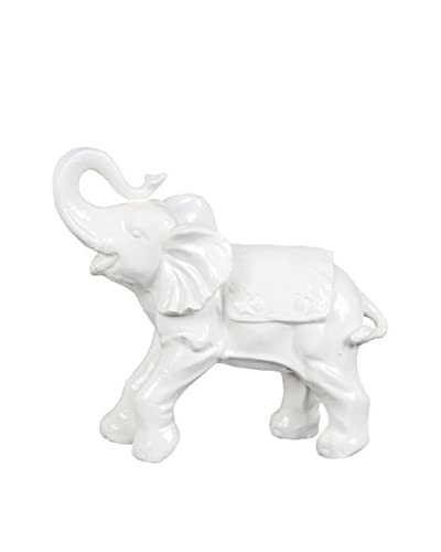 Ceramic Elephant, White