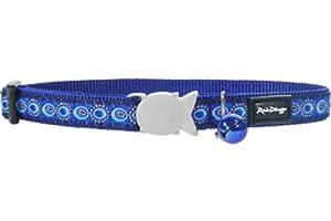 Red Dingo Designer Cat Collar, Cosmos Dark Blue