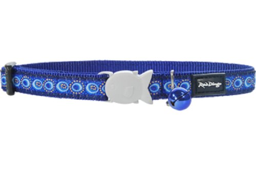 Red Dingo Designer Cat Collar, Cosmos Dark Blue