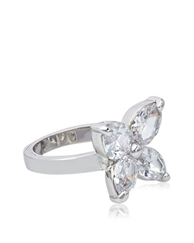 CZ by Kenneth Jay Lane Marquise Lily Floral Classic CZ Ring