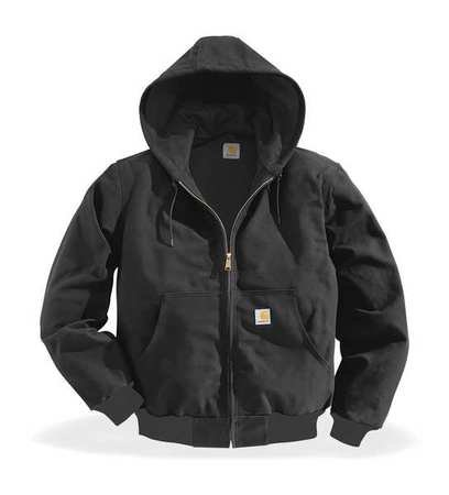 Hooded Jacket, Insulated, Black, LT (Insulated Carhartt Hoodie compare prices)