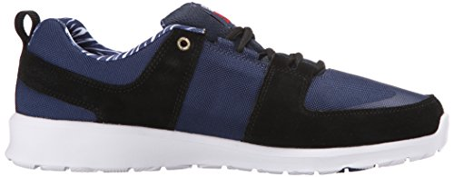 DC Men's Lynx Lite Deft Family Skate Shoe, Black Navy, 7 M US
