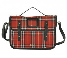 ZW141004A Red - Glamorous Satchel Messenger Bag