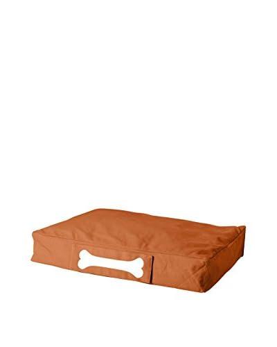 Famous Beanbag Maker Dog Bed Small Stonewashed, Orange