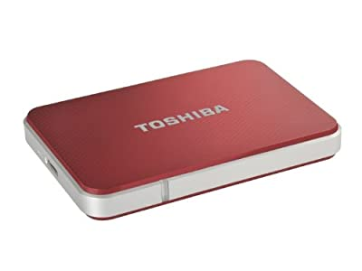 Toshiba PA3962E-1E0R STOR.E Edition 2.5 inch External Hard Drive 500GB USB3.0 - Red from Toshiba