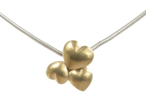 Cavendish French - Tiny sterling silver and gold vermeil heart cluster pendant