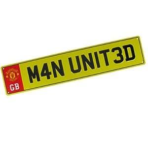 Manchester United FC. Métal Nombre Plaque Signe : Sports & Outdoors