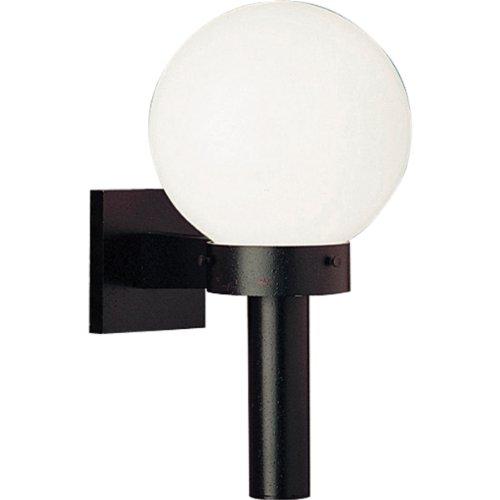 Progress Lighting P5626-60 Cast Wall Torch with 8-Inch Acrylic Globe, Black