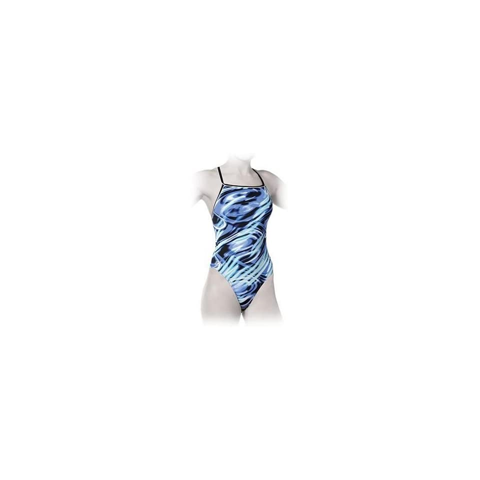 339fd8c0aa Finis Skinback Swimsuit Highlight Blue Womens on PopScreen