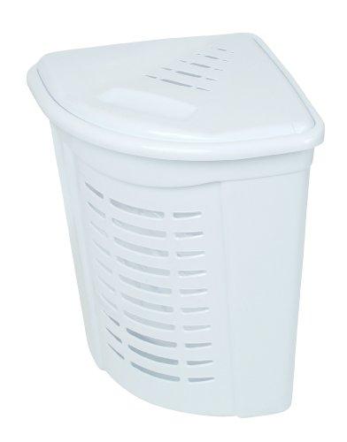 Corner Laundry Hamper 1.30 Bushel / 45 Liter (White Corner Laundry Basket compare prices)