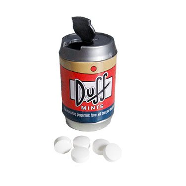 Boston America The Simpsons Mini Duff Beer Can Mints