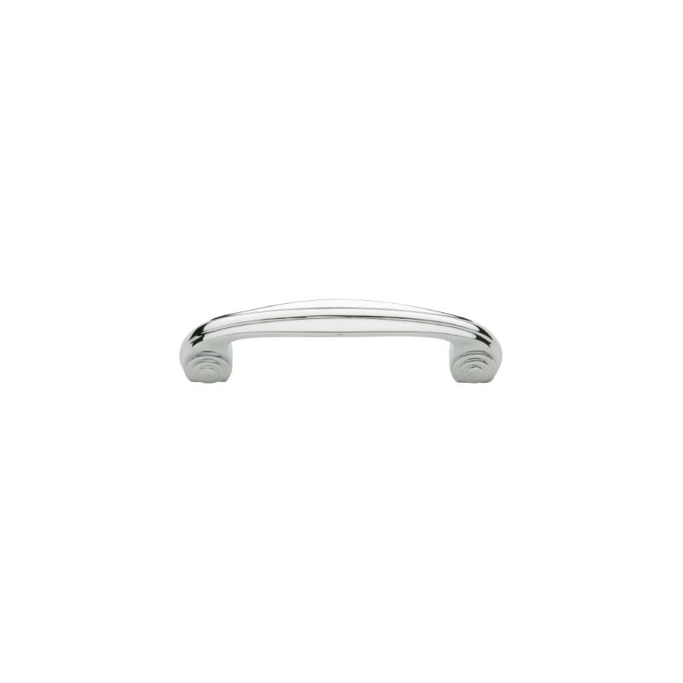 Baldwin 4437260 Polished Chrome Deco 3 1/2 Inch Center to Center Solid Brass Handle Pull from the Deco Collection 4437