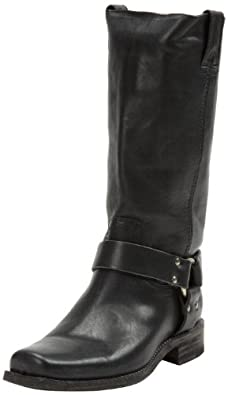 FRYE Women's Smith Harness Tall Boot,Black,6.5 M US