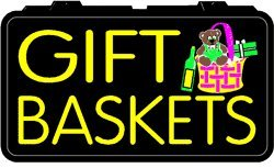 Lighted Imitation Neon Sign-Gift Baskets