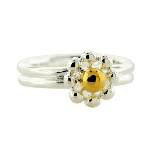 Sterling Silver Daisy Flower Ring-7. GIFT BOX INCLUDED