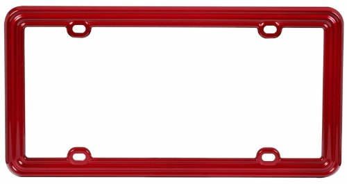 Cheap Car Plastic License Plate Frame - Solid Burgundy Red | Cheap ...