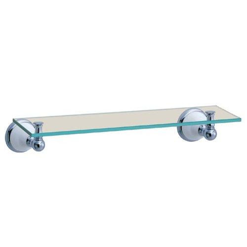Gatco 5287 Franciscan Glass Shelf, Chrome