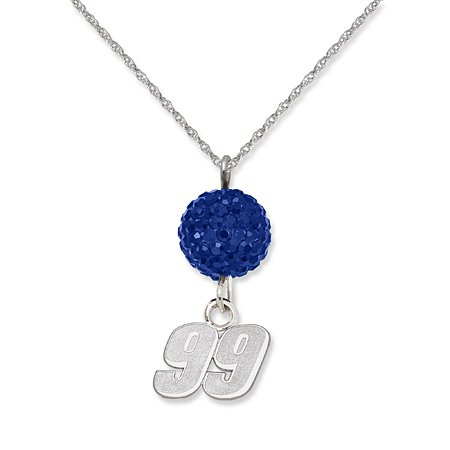 Officially Licensed Carl Edwards NASCAR Necklace with Blue Quartz