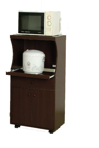 Microwave Cart: Reviews ABC Microwave Kitchen Cart with Pull Out Tray ...