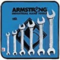 Armstrong 53-270 6 Piece Full Polish Open End Wrench Set