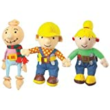 Bob The Builder Set Of Three Beanies, Bran Bags, Plush Dolls, Bob, Wendy And Spud