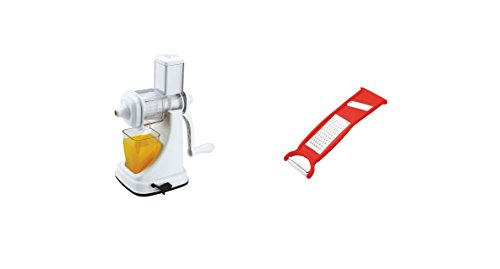 CME Combo Of Fruit And Vegetable Juicer Deluxe Plastic Handle And 3 In 1 Peelar Grater & Slicer
