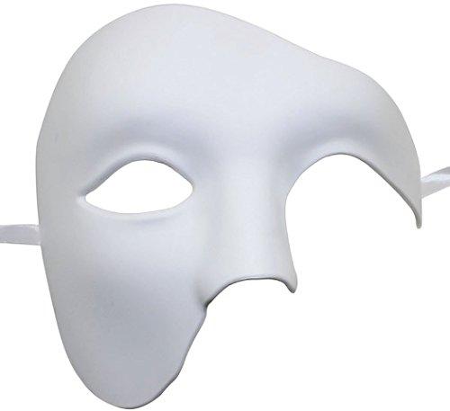 [Coxeer Drama Masks Phantom of The Opera Mask for Men Costume Party DIY Mask] (Drama Mask Costume)