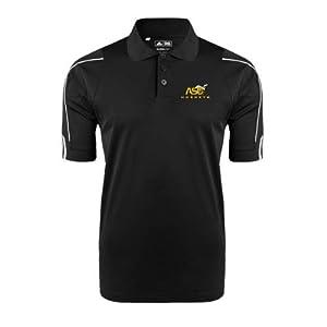 Alabama State Adidas ClimaLite Black 3 Stripe Cuff Polo