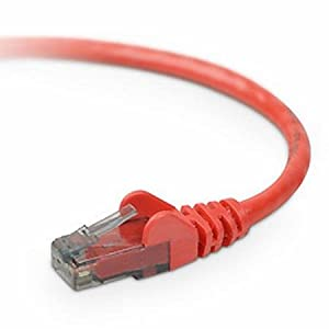 50' Red Snagless Cat5e Ethernet Patch Cable by Belkin Components