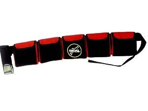 Scuba Diving Pocket weight Belt (5 pocket Red)