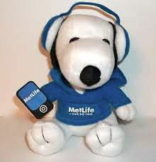 Metlife Snoopy Plush with Headphones - 1