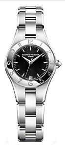Baume & Mercier Women's 10010 Linea Black Dial Stainless Steel Watch from Baume & Mercier