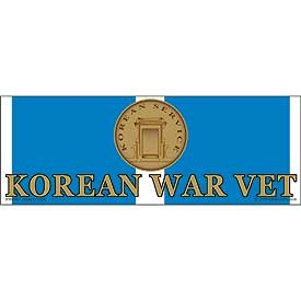 US Military Armed Forces Bumper Sticker - Veterans of Foreign Wars - Korean War Veteran Service Ribbon