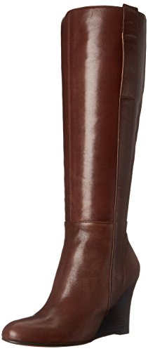 Image of Nine West Women's Oran Leather Knee High Boot, Dark Brown, 8 M US