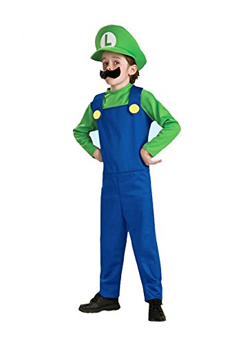 Super Mario Brothers Deluxe Child Costume Green
