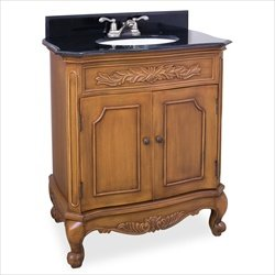 Elements VAN060 Clairemont Collection 30-1/2 Inch Single Sink Bathroom Vanity, Warm Carmel