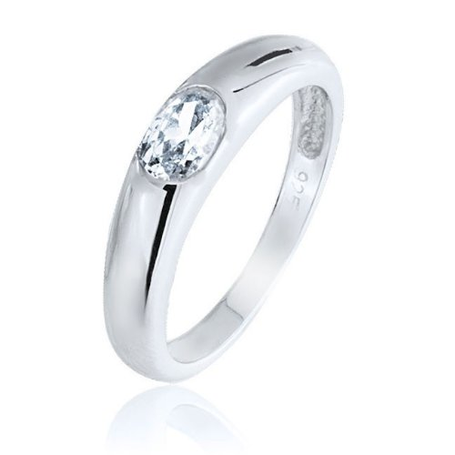 Bling Jewelry Sterling Silver .5 Carat Oval CZ Promise Ring