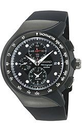 Seiko Chronograph Alarm Black Dial Men's Watch #SNAD63