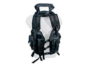Swiss Arms Combat Tactical Vest, Black, 4 Pouches