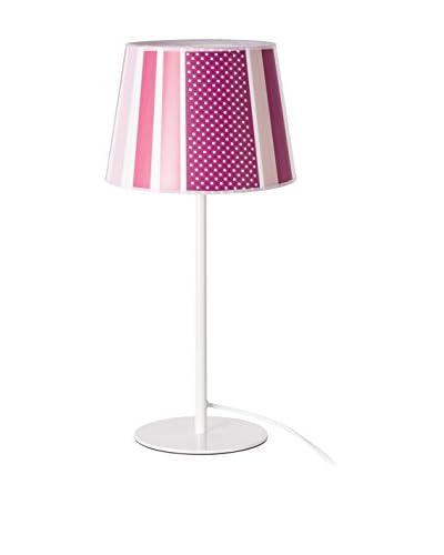 Tafellamp Lines Roze / Wit