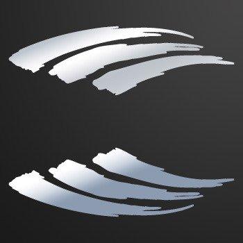 Brush Racing Design... Chrome Mirror (09 X 2.8 inch) ZZKR7
