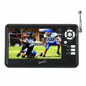 "Supersonic SC-431 4.3"" Portable TFT LCD TV with FM Radio and SD Card Slot"