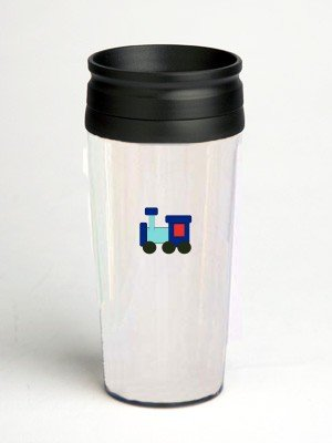 16 oz. Double Wall Insulated Tumbler with kiddy train - Paper Insert16 oz. Double Wall Insulated Tumbler with kiddy train - Paper Insert