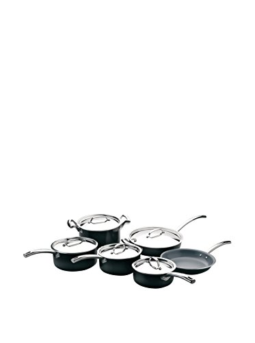 BergHOFF Earthchef Montane 11-Piece Non-Stick Cookware Set, Black