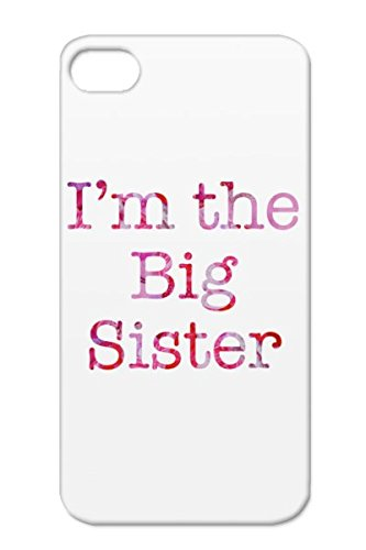 Shock-Absorbent Tpu Purple Baby Family Sibling Sister Big New Pregnancy Shower Pregnant Children Shower Baby Birth New Child For Iphone 4/4S Im The Big Sister Cover Case front-778708