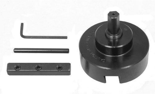 Big Horn 13209 3-Inch Rosette Cutterhead For Drill Press, 1/2-Inch Shank