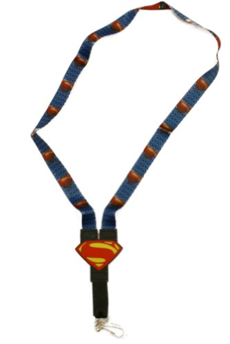 Man Of Steel Reversible Lanyard w/Clip - Superman! (Superman Clip compare prices)