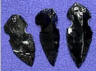 Hand-Chipped Replica Obsidian Arrowheads